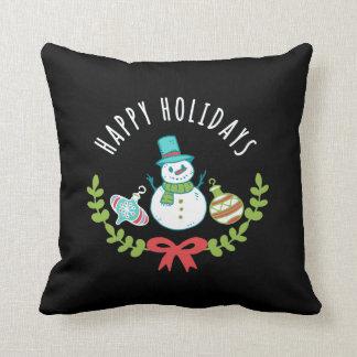 Almofada Boas festas travesseiro do boneco de neve do