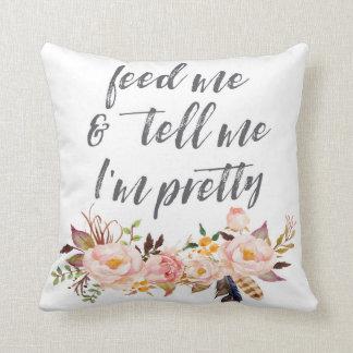 Almofada Boho alimenta-me e diz-me que eu sou travesseiro
