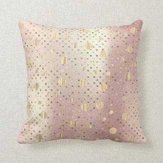 Almofada Bolinhas cor-de-rosa mais foxier do metal do rosa