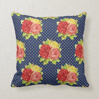 Almofada Bolinhas retros bonitos & travesseiro das flores