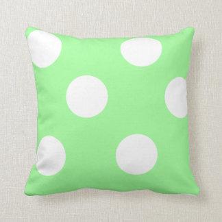 Almofada Bolinhas verdes e brancas da hortelã