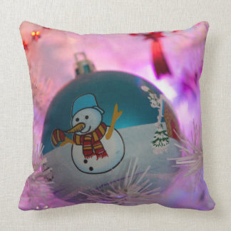 Almofada Boneco de neve - bolas do Natal - Feliz Natal