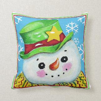 Almofada Boneco de neve com um travesseiro do chapéu