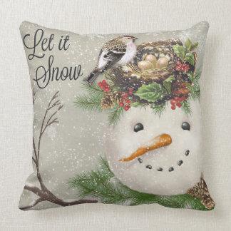 Almofada boneco de neve moderno do wintergarden do vintage