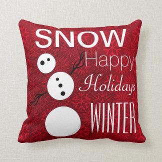 Almofada Boneco de neve preto e branco de Z no feriado