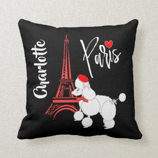 Almofada Bonito super da caniche francesa de Paris do amor