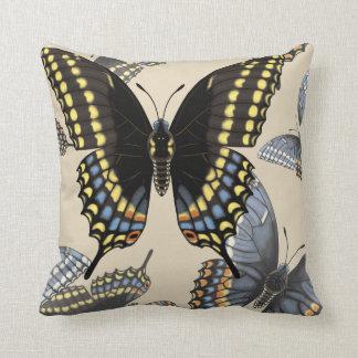 Almofada Borboleta preta de Swallowtail