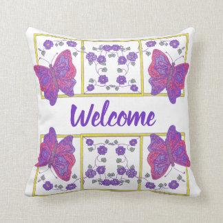 Almofada Borboletas & travesseiro decorativo das flores III