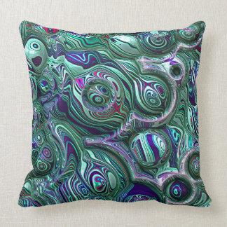 Almofada Borrão colorido do abstrato 3D