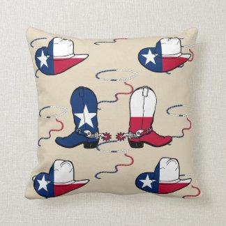 Almofada Botas e chapéus de vaqueiro de Texas