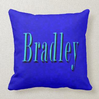 Almofada Bradley, logotipo conhecido no mosaico azul