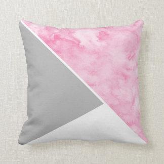 Almofada Branco cinzento cor-de-rosa moderno