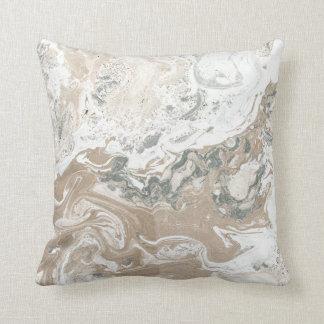 Almofada Branco cinzento cremoso de Cali do marfim de pedra