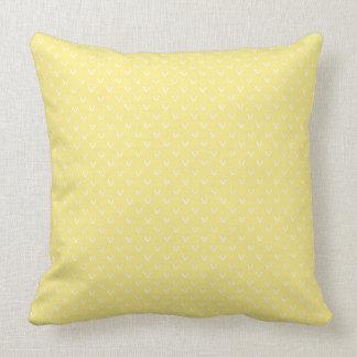 Almofada Branco no limão - teste padrão amarelo do ponto de