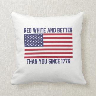 Almofada Brancos vermelhos e melhoram desde 1776