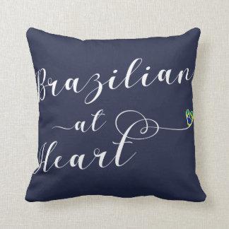 Almofada Brasileiro no coxim do lance do coração, Brasil