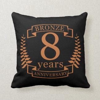 Almofada Bronzeie o oitavo aniversário de casamento 8 anos