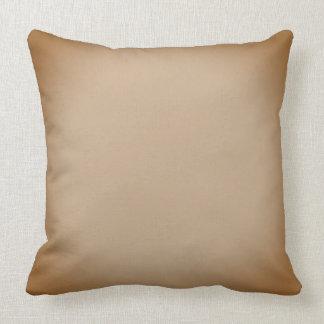 Almofada Brown desvanecido e travesseiro decorativo bege