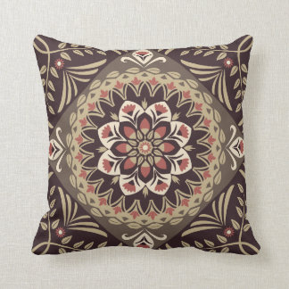 Almofada Brown e mandala tan no travesseiro decorativo