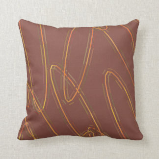 Almofada Brown e travesseiro amarelo dos Ovals