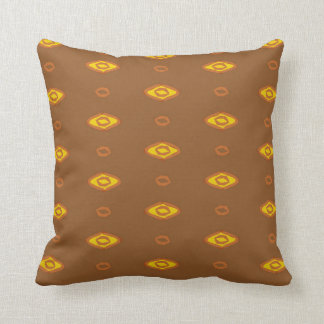 Almofada Brown e travesseiro reversível do algodão retro do