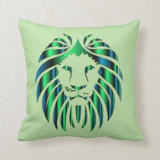 Almofada Cabeça colorida prismático do leão, travesseiro