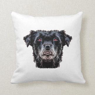Almofada Cabeça de cão preto do demónio