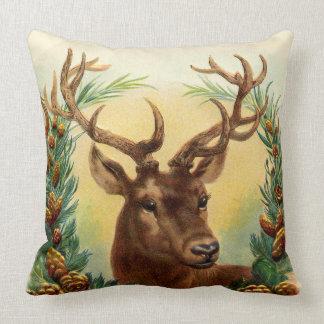 Almofada Cabeça rústica lindo e Wearth dos cervos do