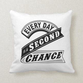 Almofada Cada dia é uma segunda possibilidade