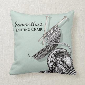 Almofada Cadeira de confecção de malhas engraçada