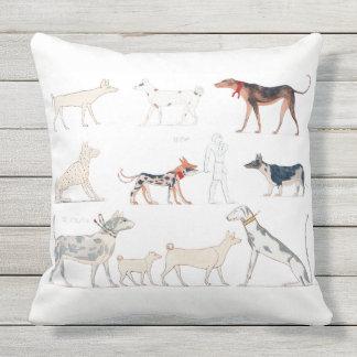 Almofada Cães do travesseiro de Egipto antigo