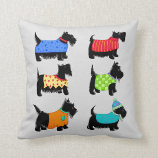 Almofada Cães pretos cinzas ou decorativo cinzento de