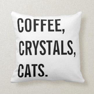 Almofada Café, cristais, gatos