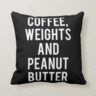 Almofada Café, pesos e manteiga de amendoim - novidade