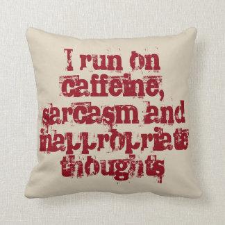 Almofada Cafeína e pensamentos impróprios