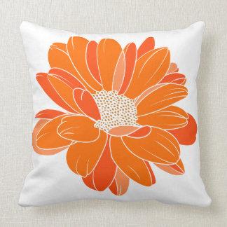 Almofada Caixa alaranjada brilhante do travesseiro da cor