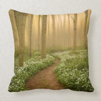 Almofada Caminhada no coxim/travesseiro das madeiras