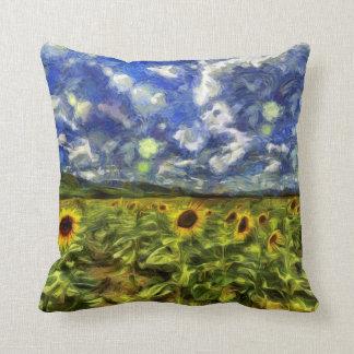 Almofada Campo Van Gogh do girassol