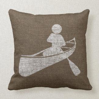 Almofada Canoeing afligido no travesseiro do jogo