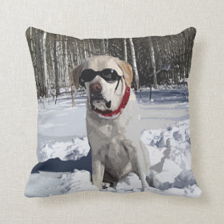 Almofada Cão amarelo da neve de Labrador