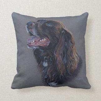 Almofada Cão de Engish cocker spaniel. Pintura das belas