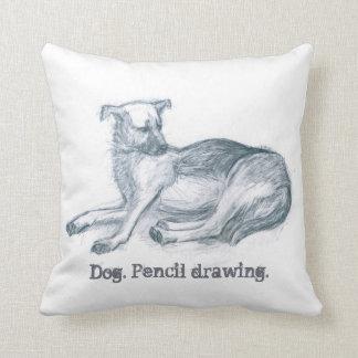 Almofada Cão. Desenho de lápis