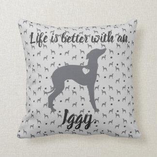 Almofada Cão do salvamento de Iggy do travesseiro da casa