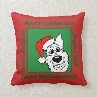 Almofada Cão pastor branco Weihnacht
