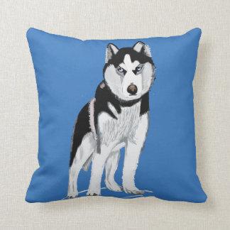 Almofada Cão ronco preto e branco