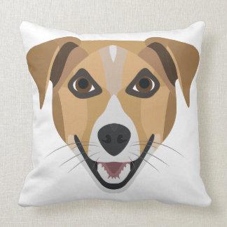 Almofada Cão Terrier de sorriso da ilustração