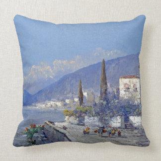 Almofada Capri litoral Italia floresce o travesseiro