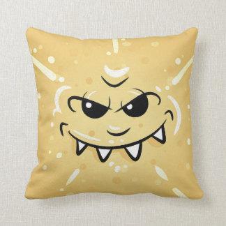 Almofada Cara amarela engraçada com sorriso Sneaky
