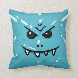 Almofada Cara azul engraçada com sorriso Sneaky