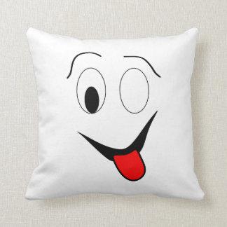 Almofada Cara engraçada - preto e vermelho